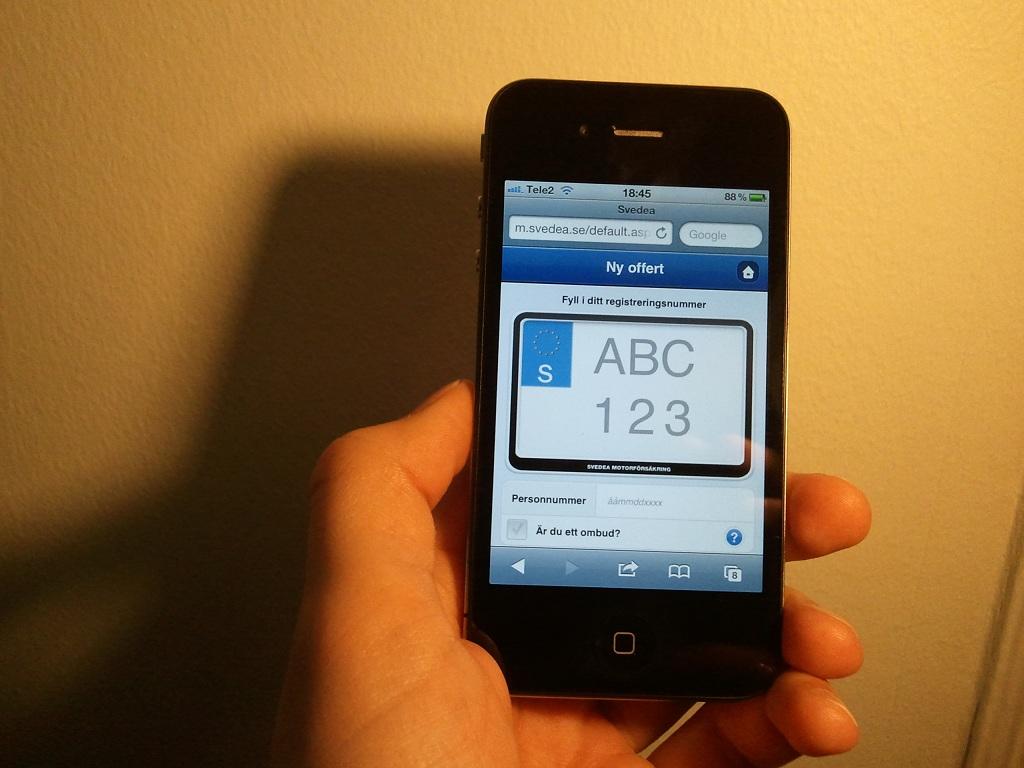 Teckna försäkring direkt i mobiltelefonen
